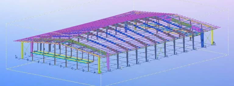 Structural steel building design for the Columbia Hockey Arena