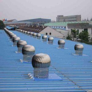 Ventilation fan in steel workshop