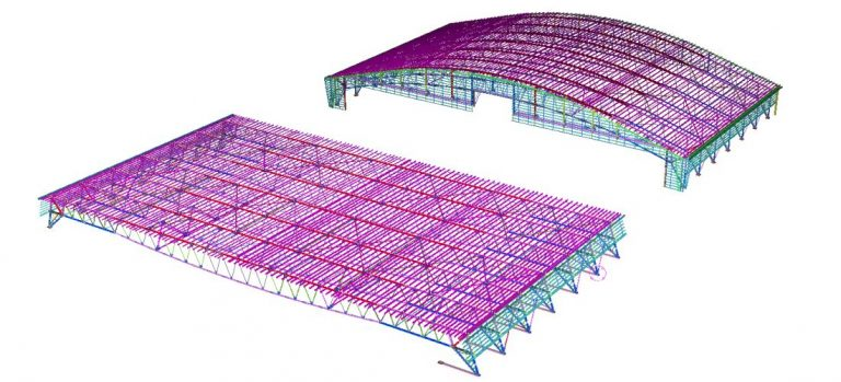 Steel structure warehouse design drawings